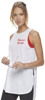 "Madden NYC Juniors' ""Never Mind"" Graphic Muscle Tank $28 thestylecure.com"