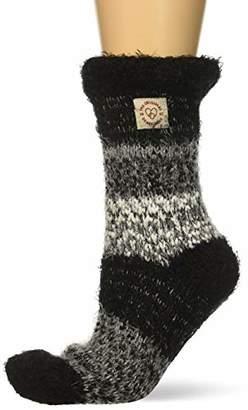 Dearfoams Women's Eyelash Knit Flurry Slipper Sock