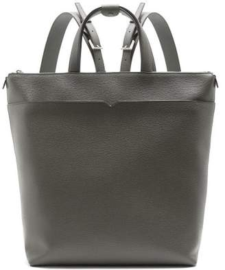 Valextra Grained-leather backpack