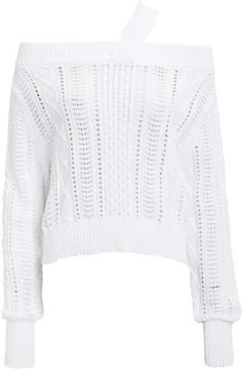 7a1fae3199 RtA Beckett Blanc Off Shoulder Sweater