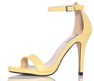 Quiz Yellow Barely There Heels