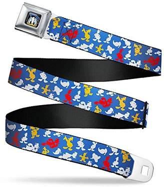 Donald Duck Face C/U Seatbelt Belt - Donald Duck Face Scattered Blue Webbing X-LARGE