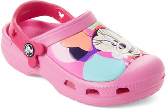 Crocs Toddler/Kids Girls) Party Pink Minnie Color Block Clogs