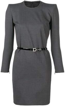 DSQUARED2 longsleeved belted dress
