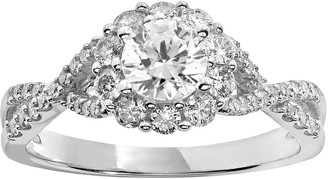 Vera Wang Simply Vera Diamond Engagement Ring in 14k White Gold (1 ct. T.W.)