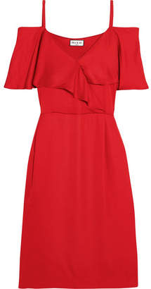Paul & Joe Cold-shoulder Satin Dress - Red