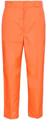 Prada fluorescent cropped trousers