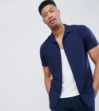 Selected Short Sleeve Revere Collar Shirt