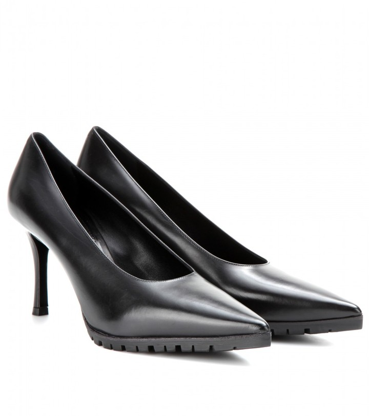 Miu Miu Leather pumps with gripped rubber sole