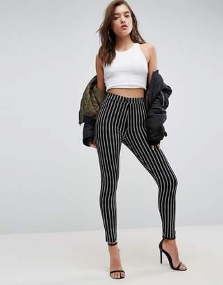 Asos (エイソス) - Asos Design ASOS Skinny Ponte Pinstripe Pants