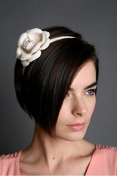 Linen Flower Headband