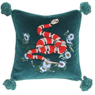 Gucci Embroidered velvet cushion