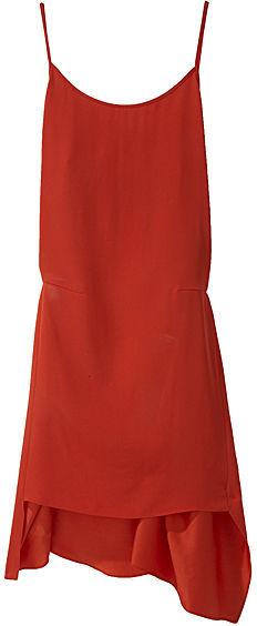 Vanessa Bruno Crepe Spaghetti Strap Dress