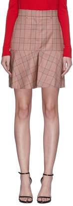 Calvin Klein Glen plaid wool mini skirt