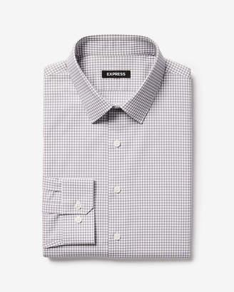 Express Extra Slim Check Point Collar Dress Shirt