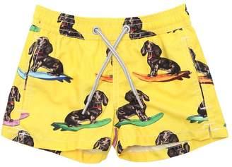 MC2 Saint Barth Surfing Dog Print Nylon Swim Shorts