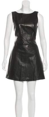 Ali Ro Leather Mini Dress