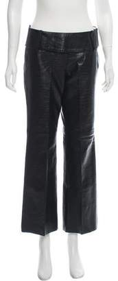 Patrizia Pepe Mid-Rise Leather Pants
