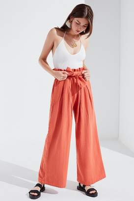 Urban Outfitters Bennie Paperbag Wide-Leg Pant