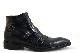 Jo Ghost 2799 Men's 3 Buckle Italian Pointy Toe Ankle Boots