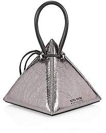Nita Suri Women's Iconics Lia Volcanic Pyramid Leather Top Handle Bag