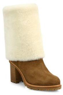 Casadei Shearling Fur & Suede Boots $1,300 thestylecure.com
