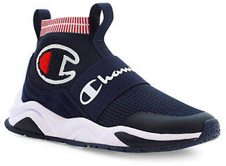 Champion Rally Pro High-Top Logo Sneakers