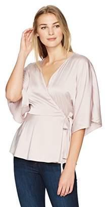 Lark & Ro Women's True Wrap Kimono Top