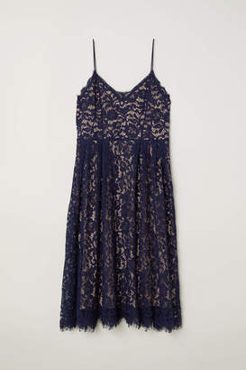 H&M H & M+ Lace Dress - Dark blue - Women