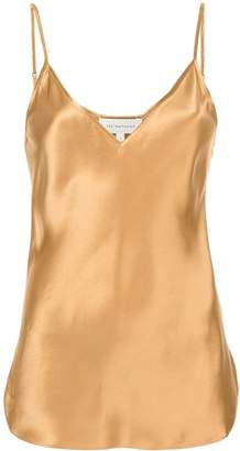 Lee Mathews V-neck satin blouse