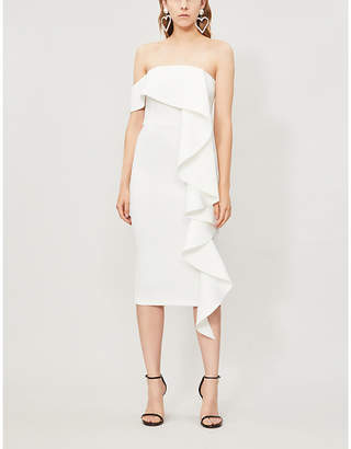 Lavish Alice Off-the-shoulder stretch-woven midi dress