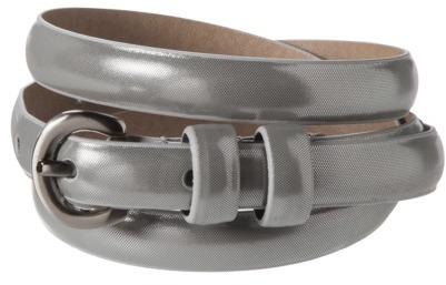 Merona Silver Metallic Skinny Belt - M