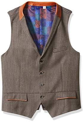 Robert Graham Men's Grenville Classic Fit Woven Vest