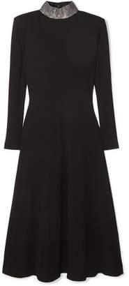 Christopher Kane Crystal-embellished Ribbed Jersey Midi Dress - Black