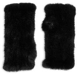 Saks Fifth Avenue Dyed Mink Fur Fingerless Gloves