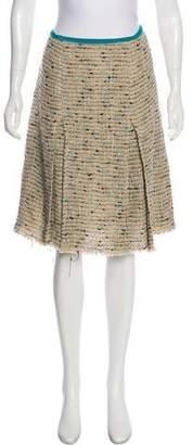 Prada Tweed Knee-Length Skirt w/ Tags