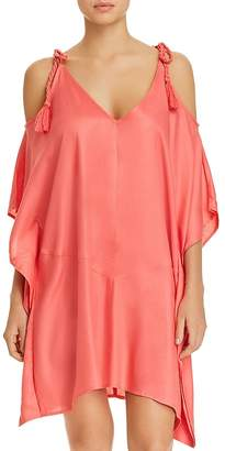 Echo Cold-Shoulder Dress Swim Cover-Up