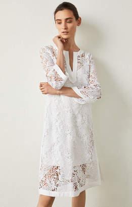 BCBGMAXAZRIA Floral Lace Shift Dress