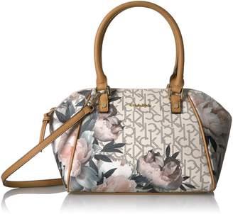 Calvin Klein Monogram Top Zip Dome Satchel Satchel Bag