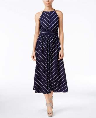 Maison Jules Kimberly Striped Midi Dress, Only at Macy's $89.50 thestylecure.com