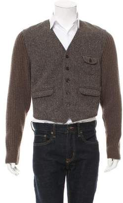 Dolce & Gabbana Wool-Blend Knit Jacket w/ Tags