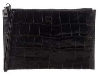 Eric Javits Embossed Leather Wristlet