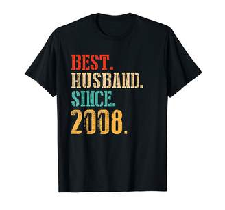 2tees T08 M17c 11th Wedding Anniversary Gifts Best Husband Since 2008 Shirt
