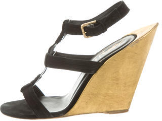 Saint LaurentYves Saint Laurent Crossover Wedge Sandals