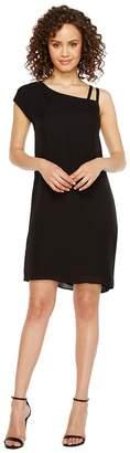 Heather Bette Asymmetrical Shoulder Tie Dress Women's Dress