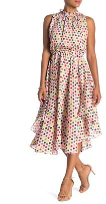 Eva Franco Santal Printed Handkerchief Hem Dress