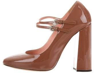 Rochas Patent Leather Mary Jane Pumps