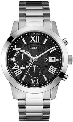 Men's Chronograph Silver Tone Bracelet Watch
