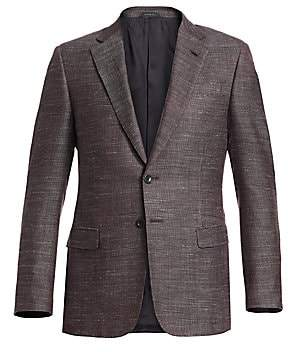 Giorgio Armani Men's Micro Melange Dress Jacket