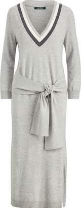 Ralph Lauren Tied-Waist Cotton-Blend Dress